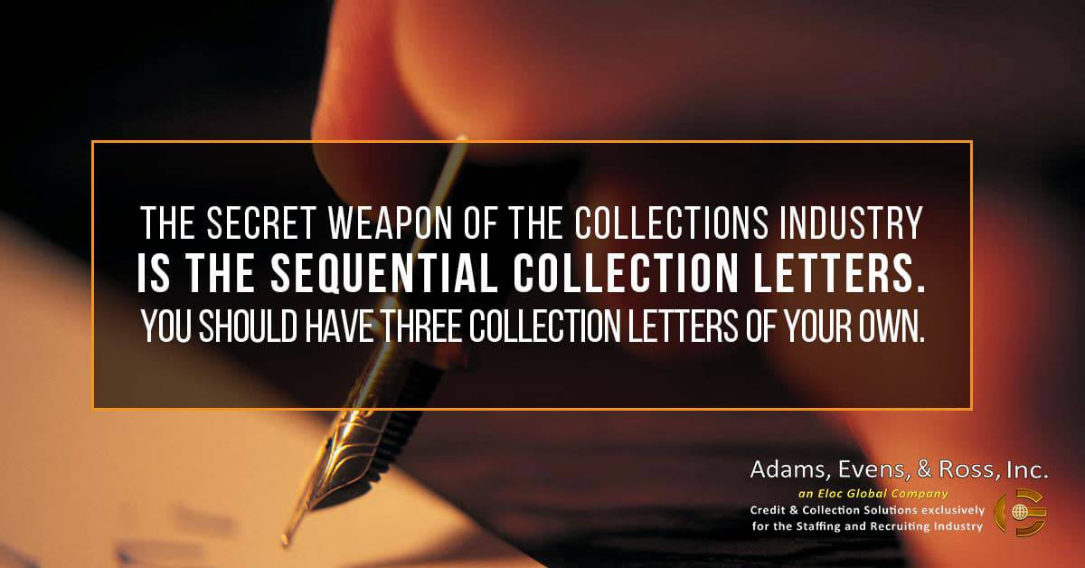 sequential collection letter, AER SEQ Postcard