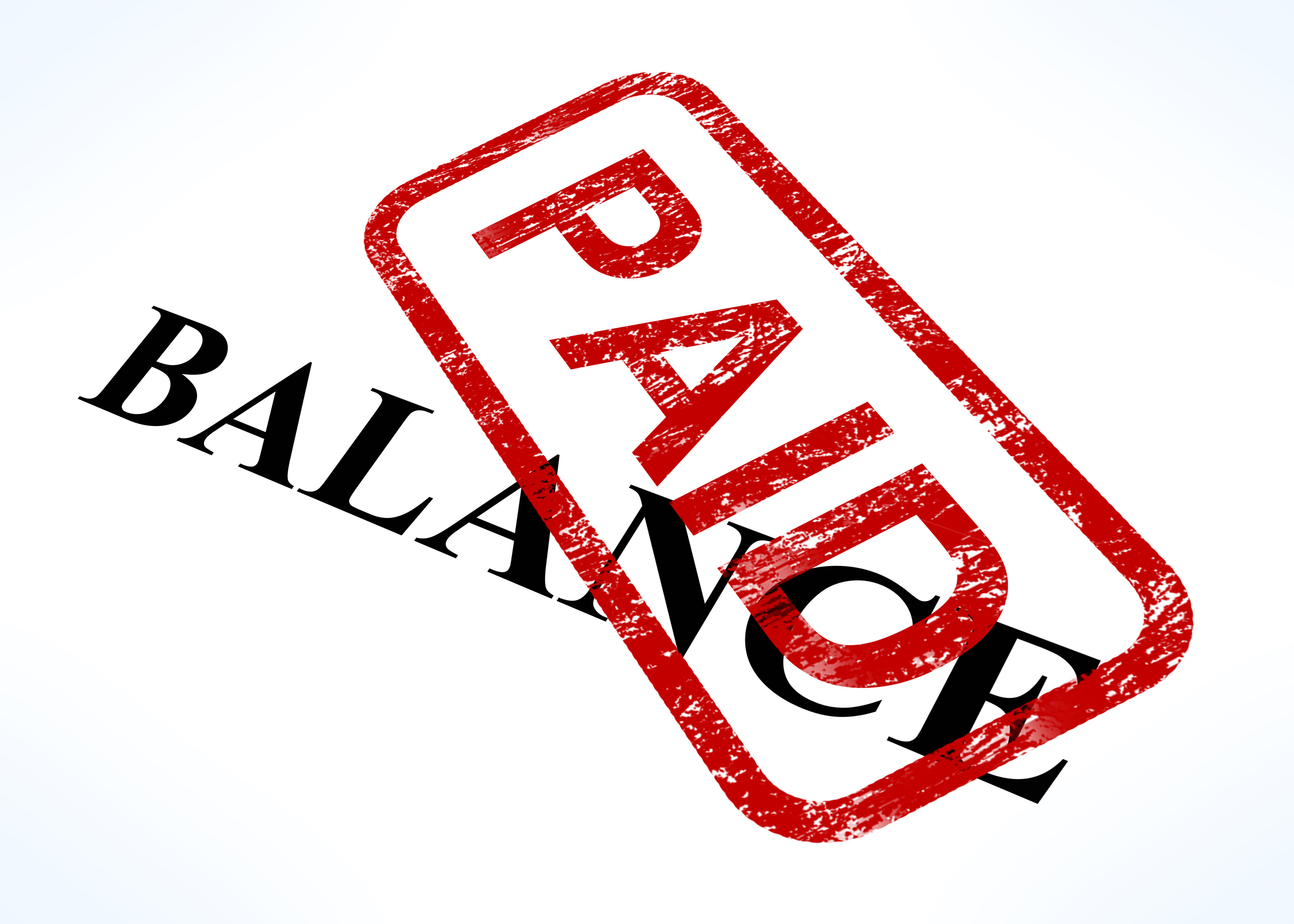 Collect the Balance That You are Owed, Do Not Deposit Paid in Full Check