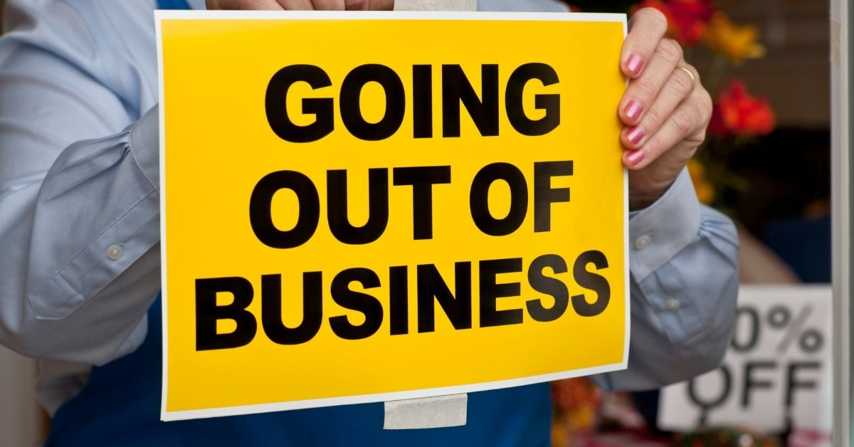 Stage chronology of a company that goes out of business